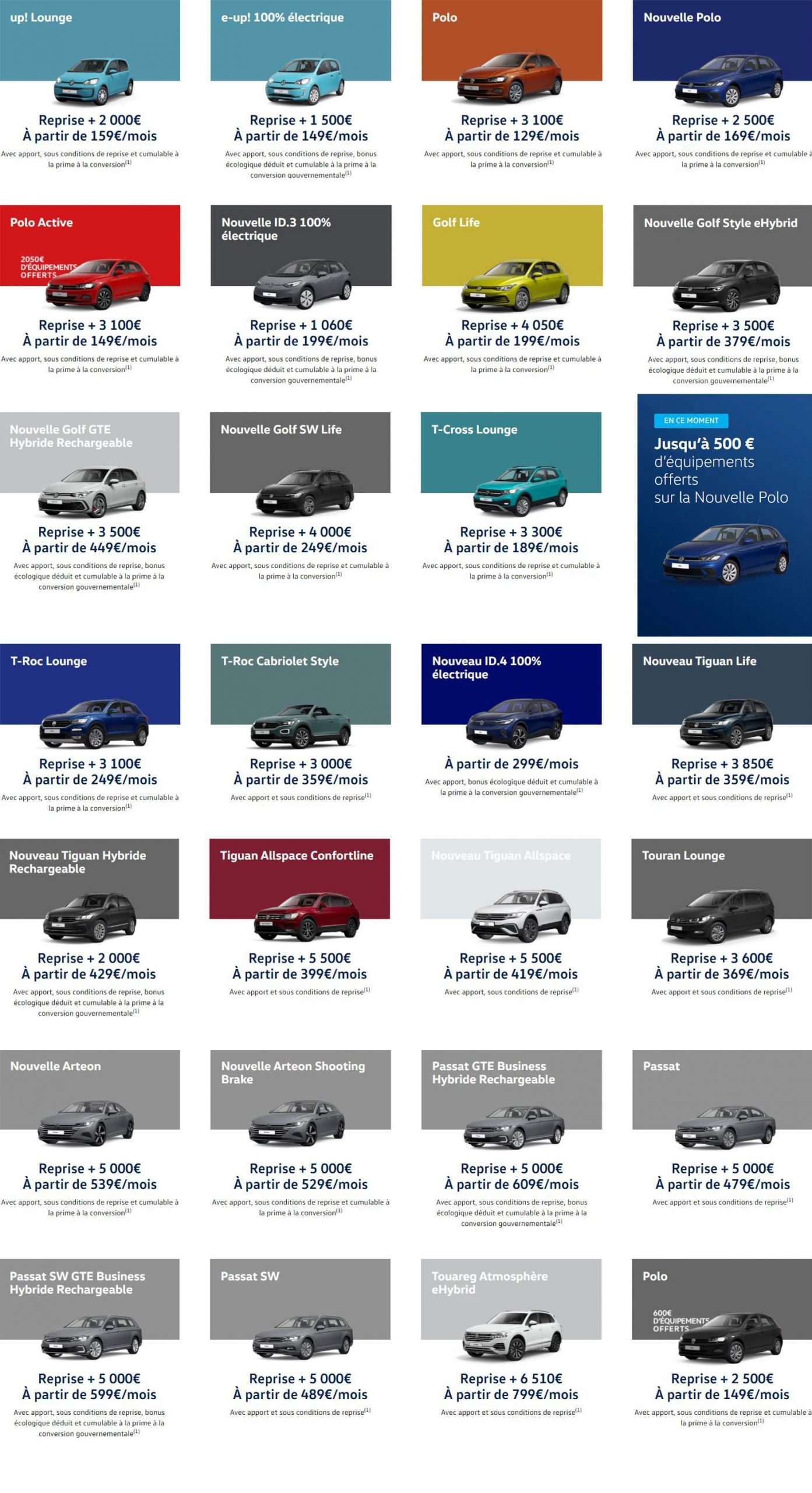 offres du moment Volkswagen